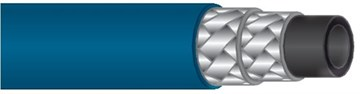 Шланг синий обрезиненный для пищевой промышленности DN12, 80 бар, 150 гр. С Aquafoam (без фитингов)